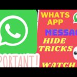 WHATS APP MESSAGE HIDE NEW TRICKS 2021 ||